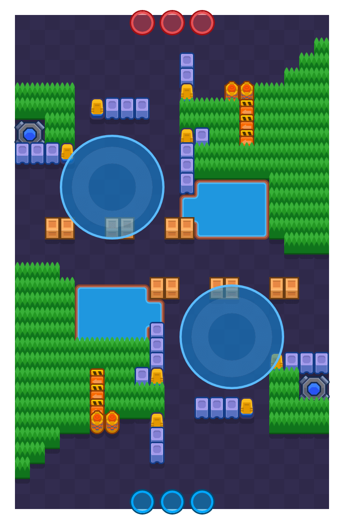 Sizzling Surprise is a Hot Zone map in Brawl Stars.