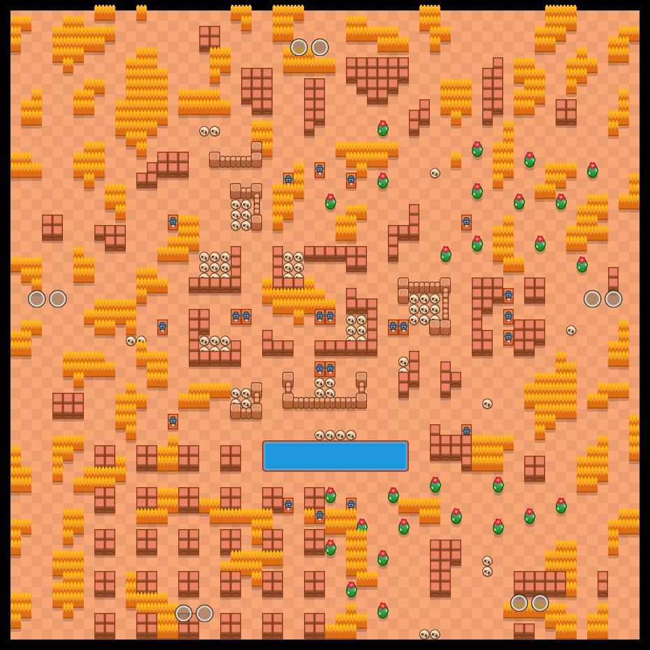 Lago de ossos is a Combate Duplo map in Brawl Stars.