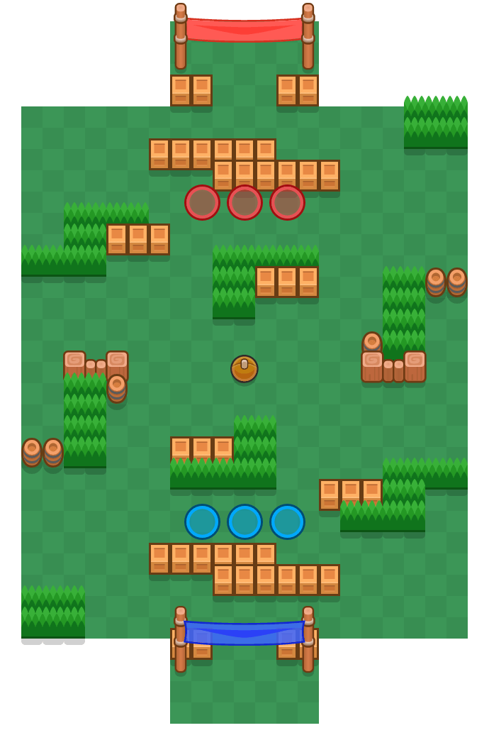 Suurpujottelu is a Rähinäpallo map in Brawl Stars.