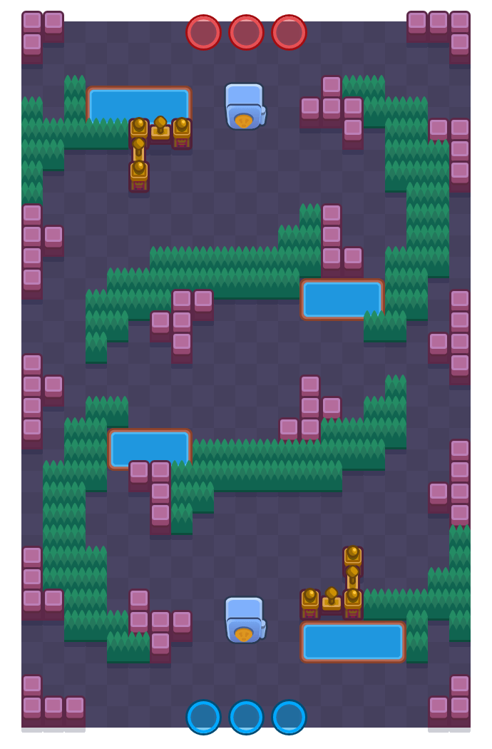 Snaked Assault is a Heist Brawl Stars map. Check out Snaked Assault's map picture for Heist and the best and recommended brawlers in Brawl Stars.