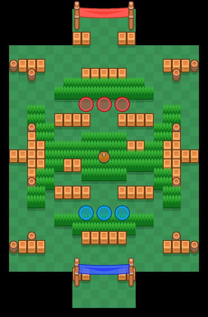 Sneaky Fields is a Brawl Ball map in Brawl Stars.