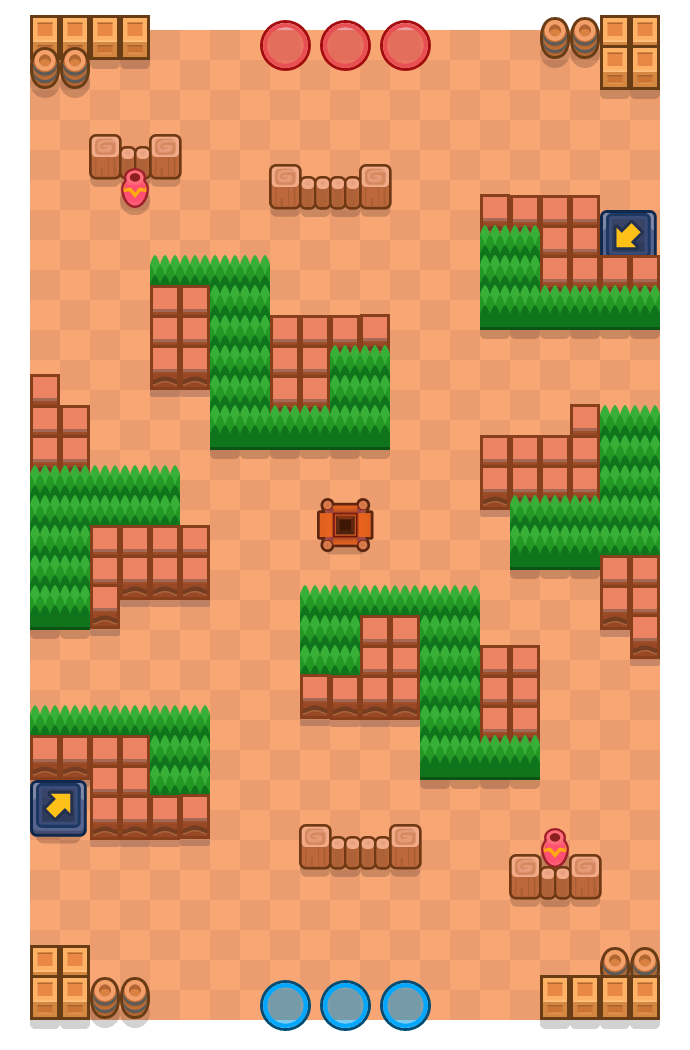 Spare Space is a Gem Grab Brawl Stars map. Check out Spare Space's map picture for Gem Grab and the best and recommended brawlers in Brawl Stars.