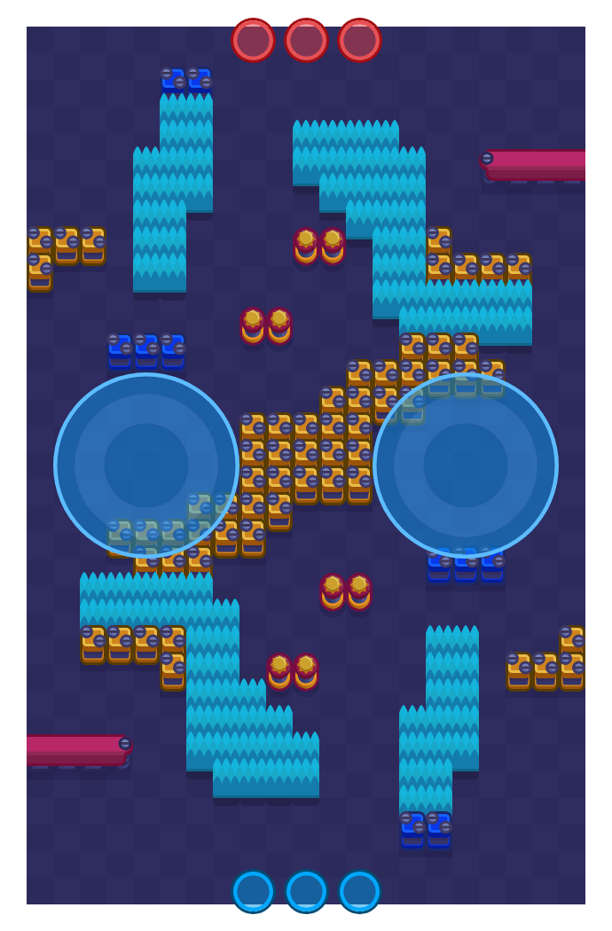 Split is a Hot Zone map in Brawl Stars.