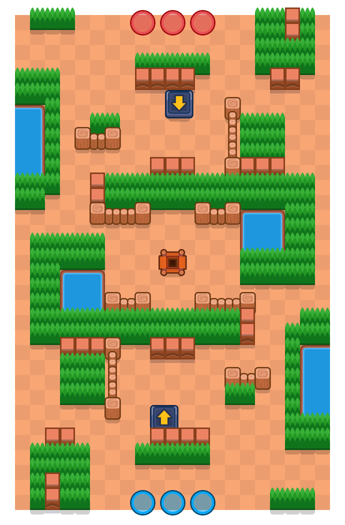 Spring Trap is a Gem Grab map in Brawl Stars.