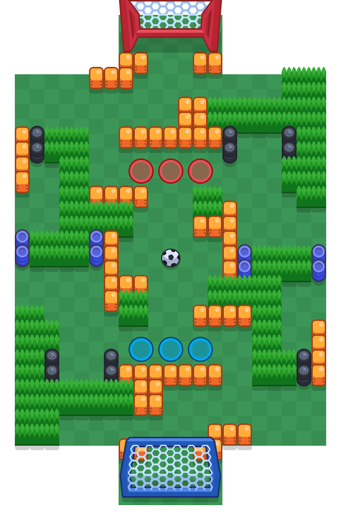 Autoadesão is a Fute-Brawl map in Brawl Stars.