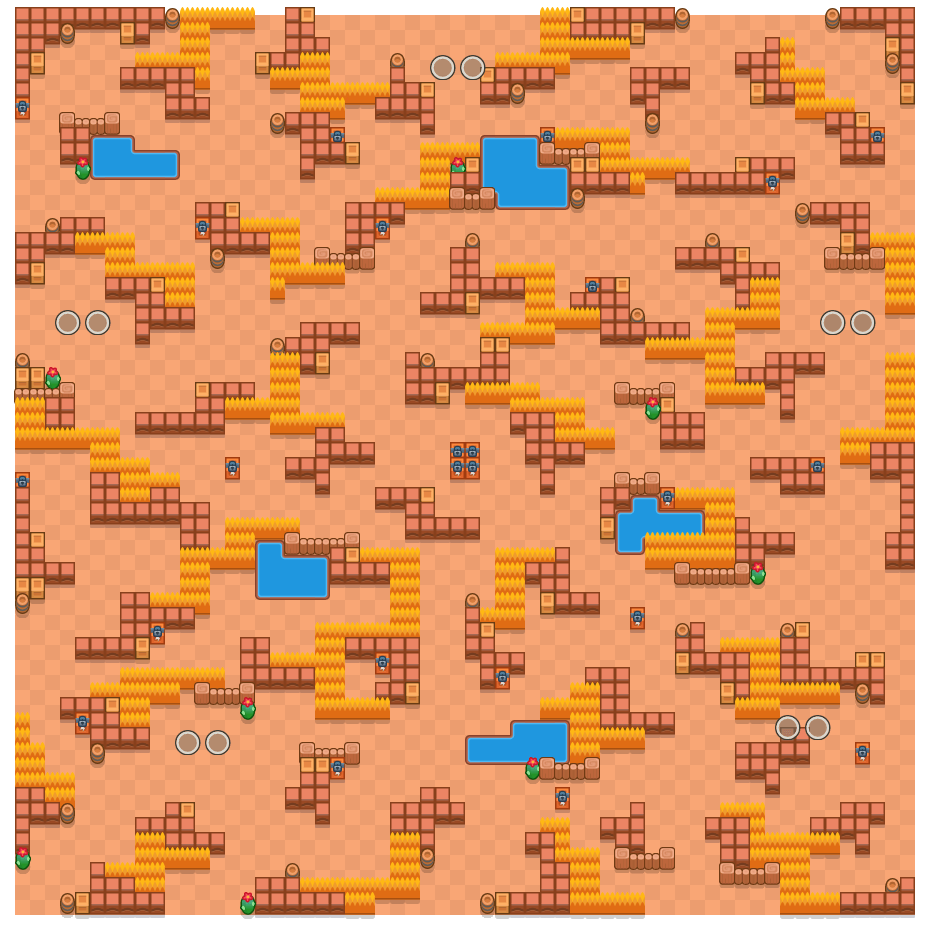 Stocky Stockades is a Duo Showdown Brawl Stars map. Check out Stocky Stockades's map picture for Duo Showdown and the best and recommended brawlers in Brawl Stars.