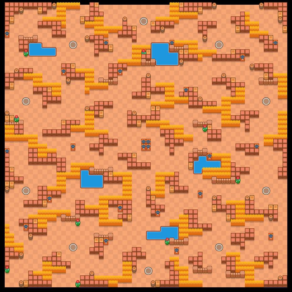 Valle delle palizzate is a Sopravvivenza (solo) map in Brawl Stars.