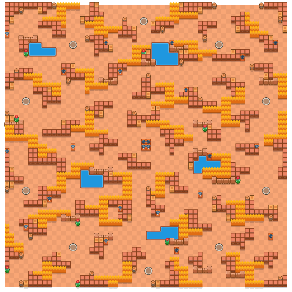 Stocky Stockades is a Solo Showdown Brawl Stars map. Check out Stocky Stockades's map picture for Solo Showdown and the best and recommended brawlers in Brawl Stars.