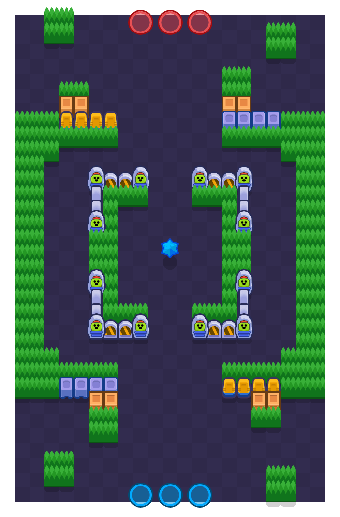 Stone Fort is a Bounty Brawl Stars map. Check out Stone Fort's map picture for Bounty and the best and recommended brawlers in Brawl Stars.
