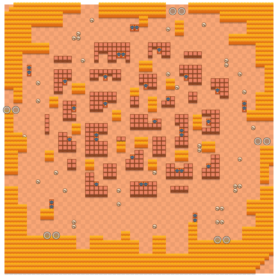 Stormy Plains is a Duo Showdown Brawl Stars map. Check out Stormy Plains's map picture for Duo Showdown and the best and recommended brawlers in Brawl Stars.