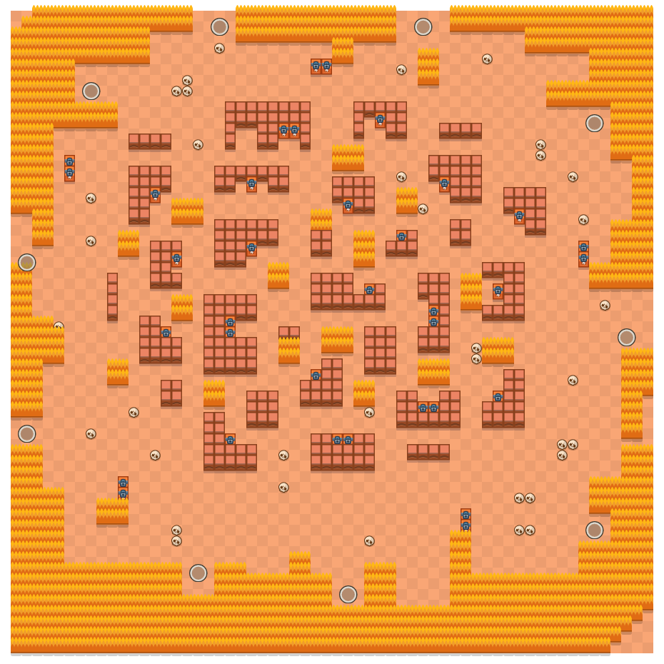 Stormy Plains is a Solo Showdown Brawl Stars map. Check out Stormy Plains's map picture for Solo Showdown and the best and recommended brawlers in Brawl Stars.