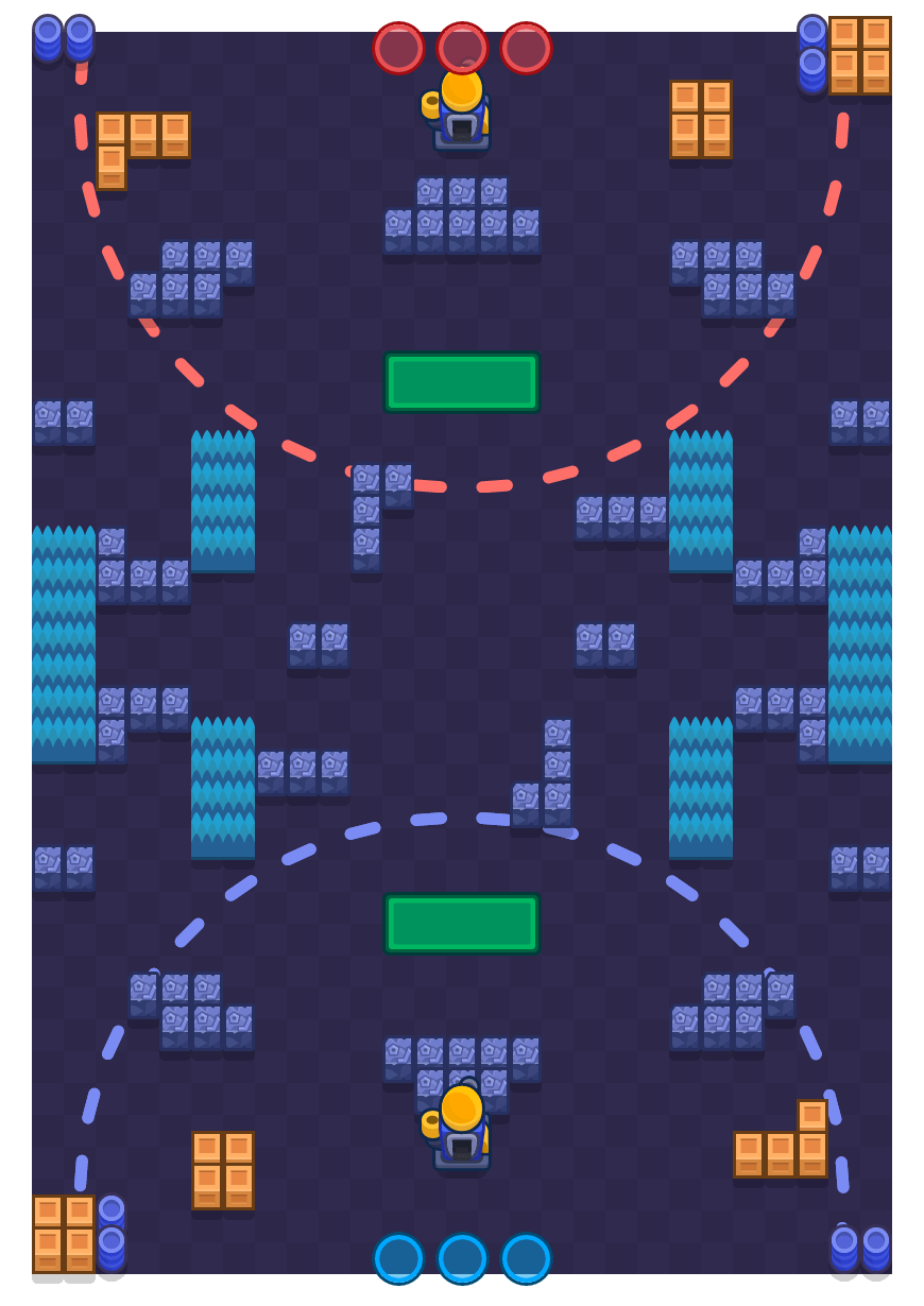 Straight Shot is a Siege Brawl Stars map. Check out Straight Shot's map picture for Siege and the best and recommended brawlers in Brawl Stars.