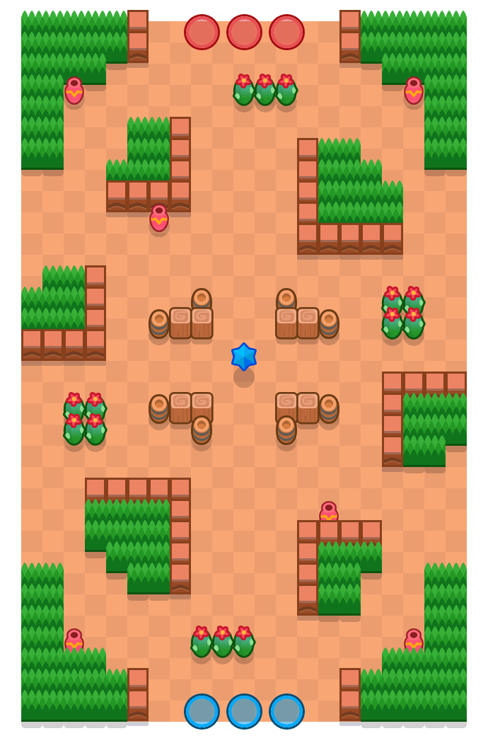 Sunstroke is a Bounty Brawl Stars map. Check out Sunstroke's map picture for Bounty and the best and recommended brawlers in Brawl Stars.