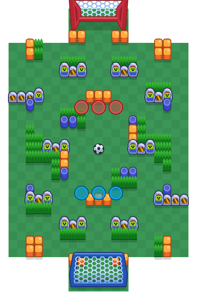 Stade des brawlers is a Brawlball map in Brawl Stars.
