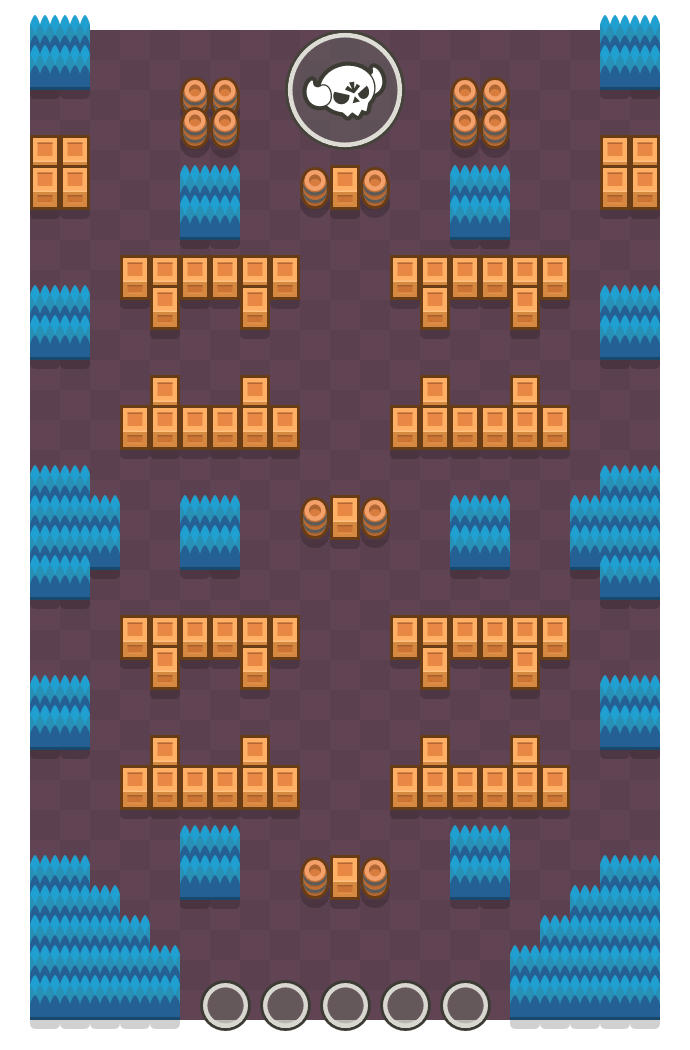 Frenesí is a Megabrawl Brawl Stars map. Check out Frenesí's map picture for Megabrawl and the best and recommended brawlers in Brawl Stars.