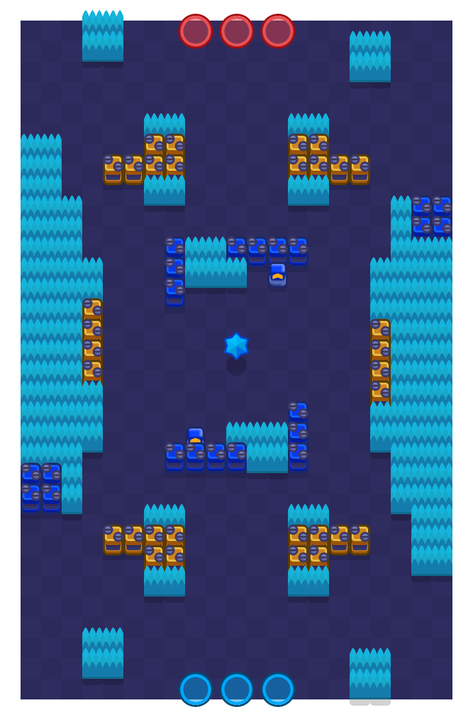 Temple Ruins is a Bounty Brawl Stars map. Check out Temple Ruins's map picture for Bounty and the best and recommended brawlers in Brawl Stars.