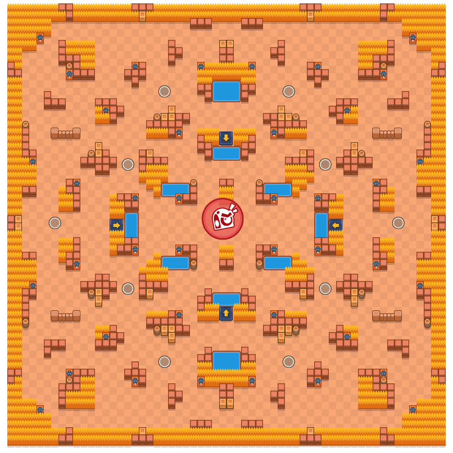 Tight Stuff is a Takedown Brawl Stars map. Check out Tight Stuff's map picture for Takedown and the best and recommended brawlers in Brawl Stars.