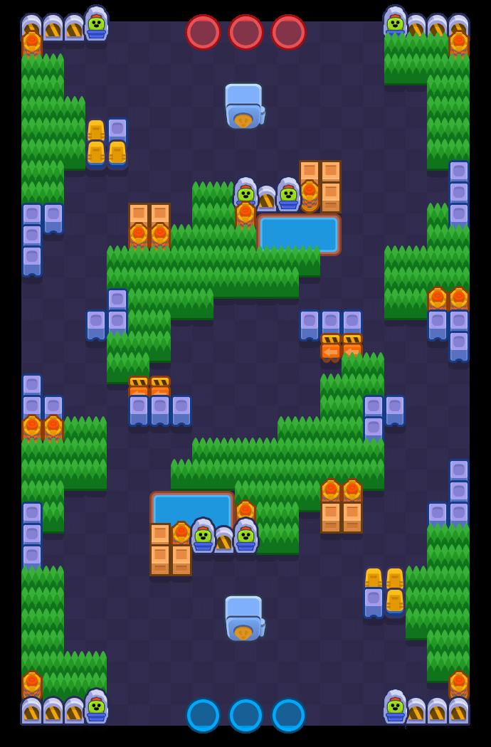 肆虐龙卷 is a 金库攻防 map in Brawl Stars.