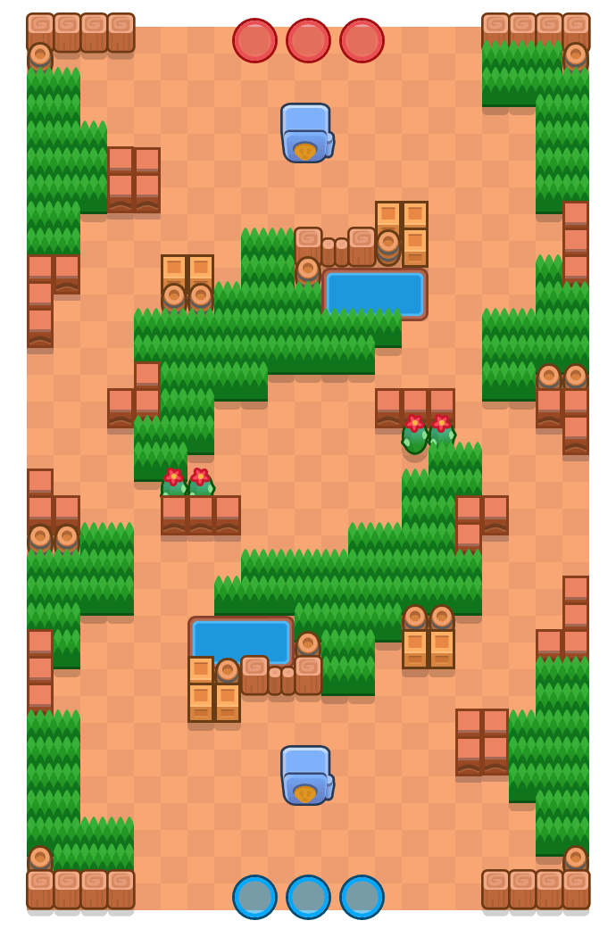 Tornado Ring is a Heist Brawl Stars map. Check out Tornado Ring's map picture for Heist and the best and recommended brawlers in Brawl Stars.
