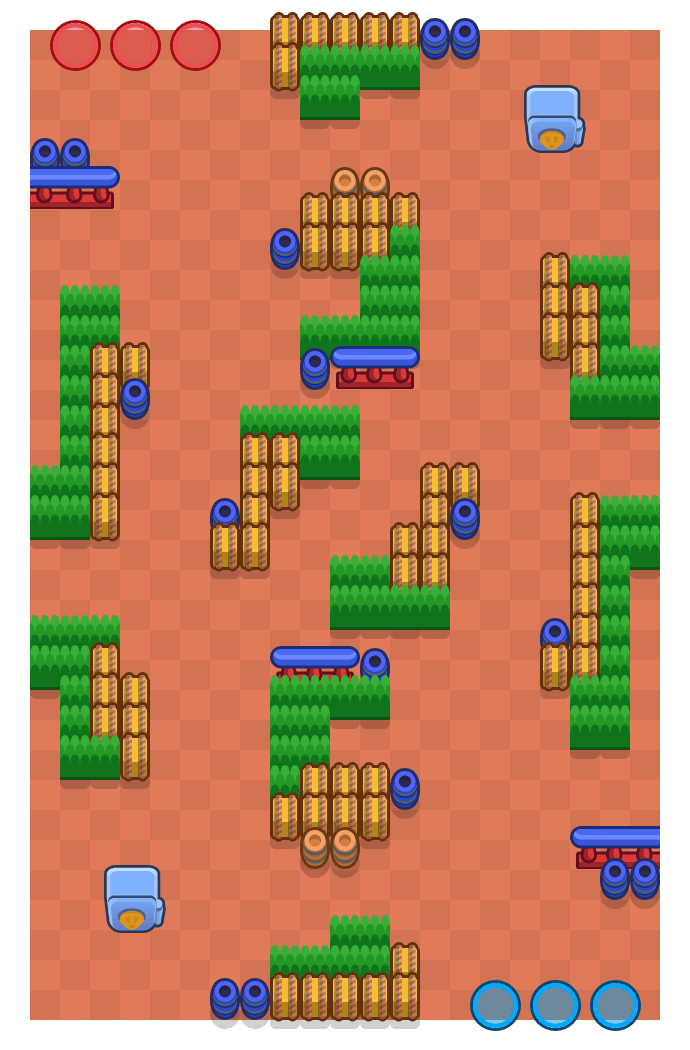 Traffic Jam is a Heist Brawl Stars map. Check out Traffic Jam's map picture for Heist and the best and recommended brawlers in Brawl Stars.