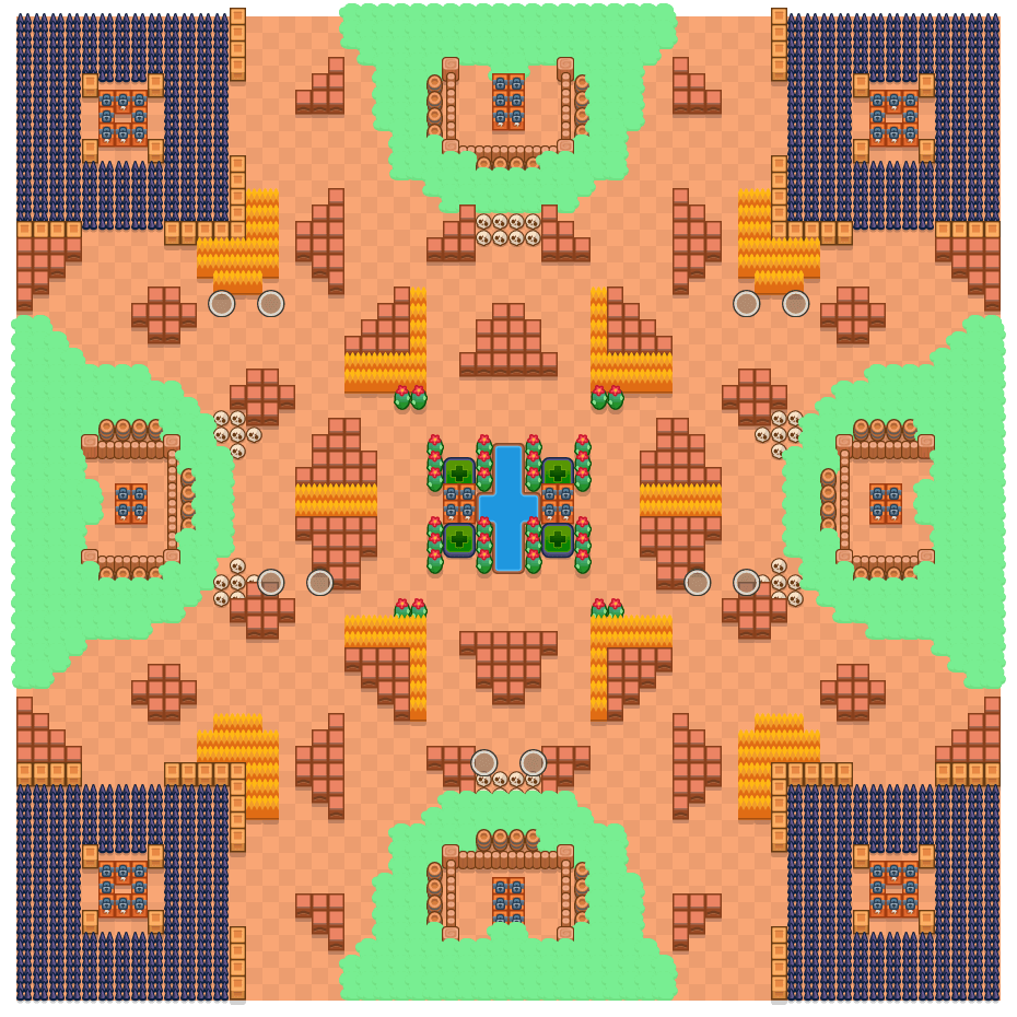 Trap Map is a Duo Showdown Brawl Stars map. Check out Trap Map's map picture for Duo Showdown and the best and recommended brawlers in Brawl Stars.