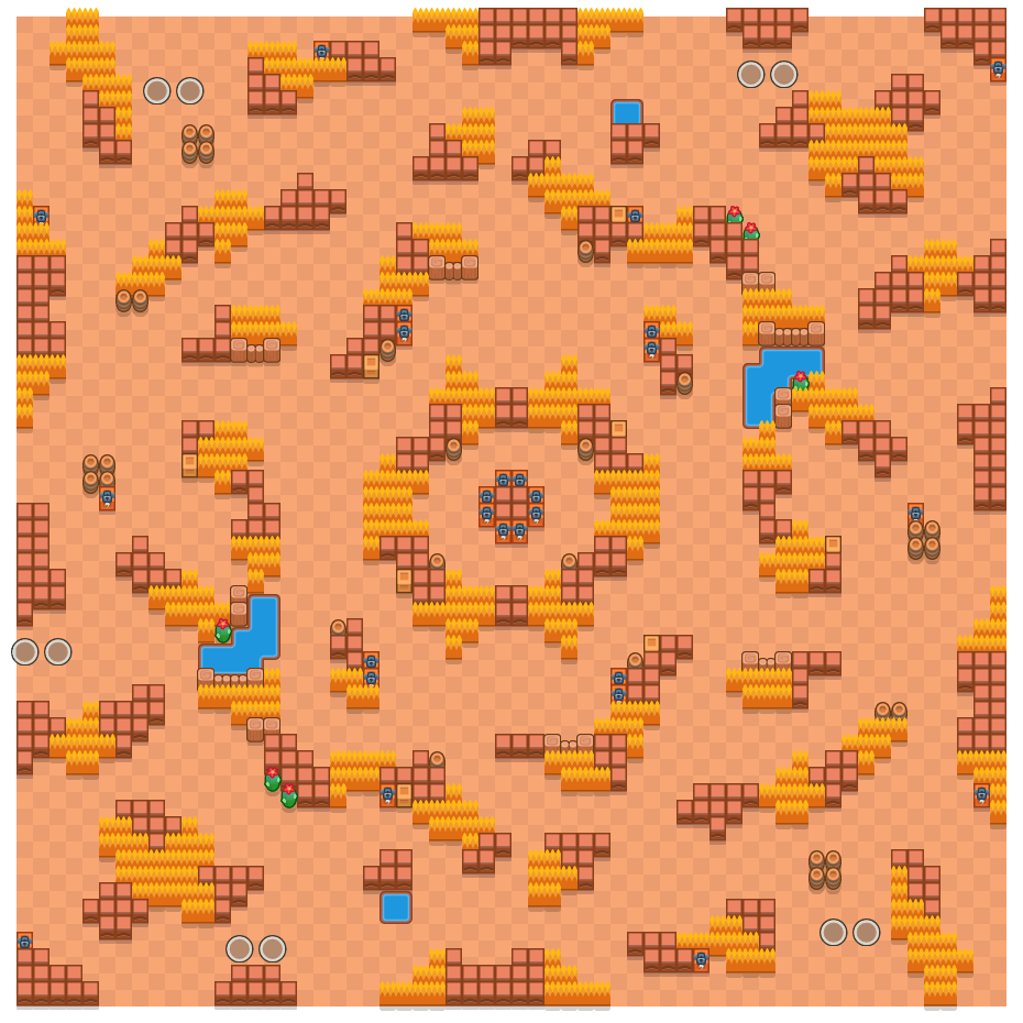Treasure Hunt is a Duo Showdown Brawl Stars map. Check out Treasure Hunt's map picture for Duo Showdown and the best and recommended brawlers in Brawl Stars.