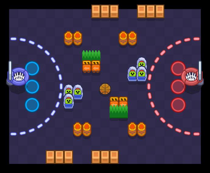 Triple-Double is a Basket Brawl map in Brawl Stars.