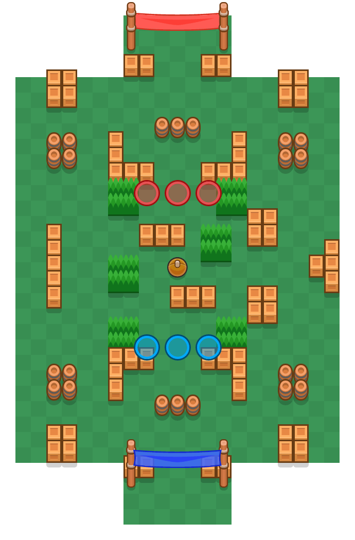 Triple Dribble is a Brawl Ball map in Brawl Stars.