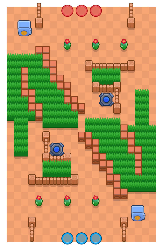 Turnaround is a Heist Brawl Stars map. Check out Turnaround's map picture for Heist and the best and recommended brawlers in Brawl Stars.