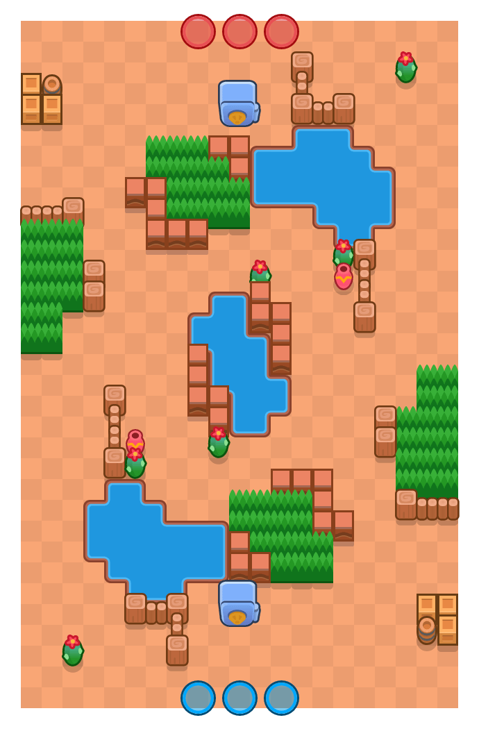 Disparo rotatorio is a Atraco Brawl Stars map. Check out Disparo rotatorio's map picture for Atraco and the best and recommended brawlers in Brawl Stars.