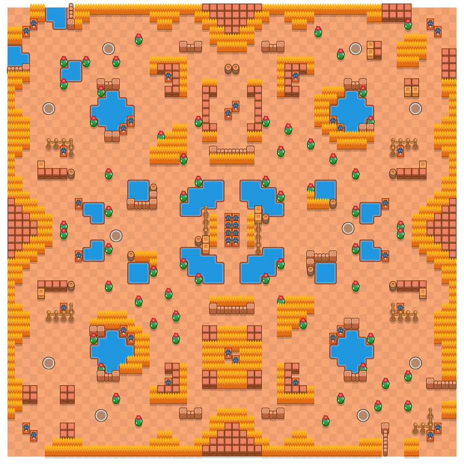 Two Thousand Lakes is a Solo Showdown Brawl Stars map. Check out Two Thousand Lakes's map picture for Solo Showdown and the best and recommended brawlers in Brawl Stars.