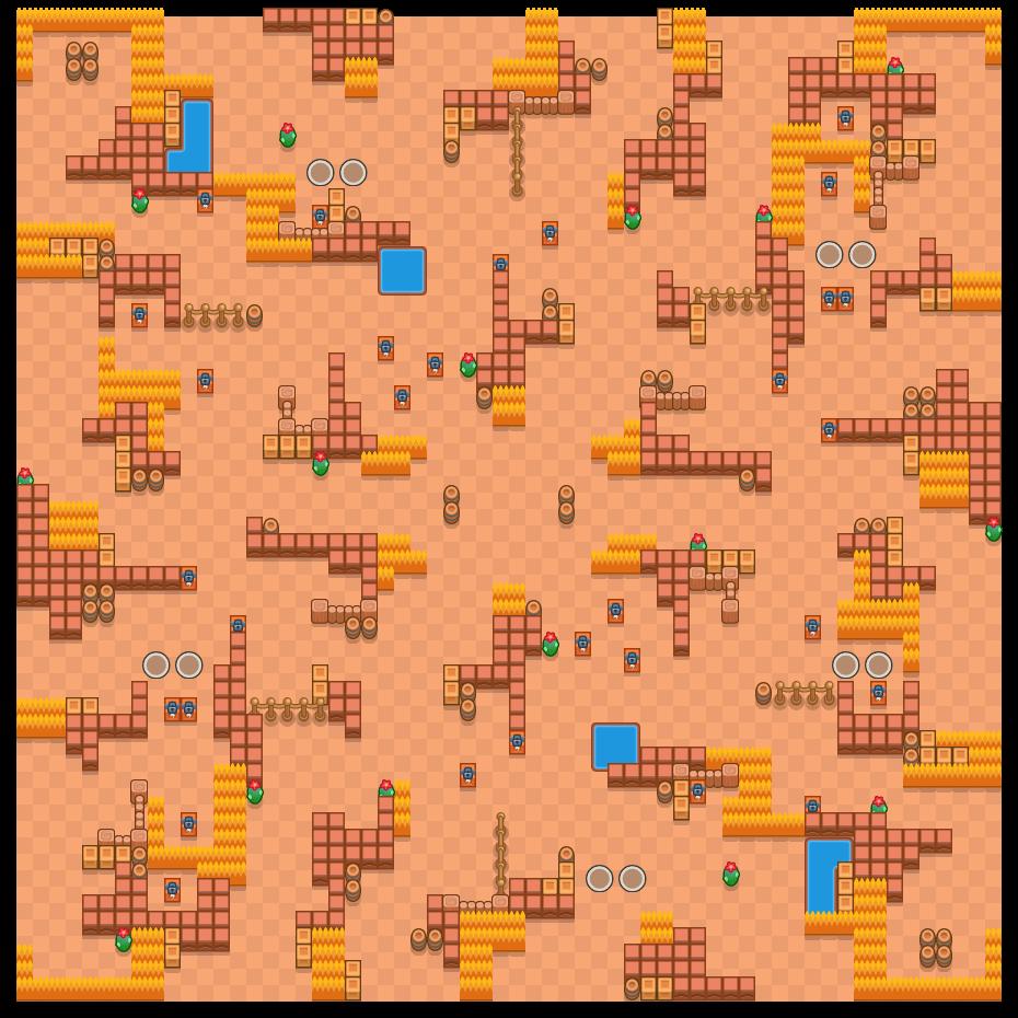 Valle dei vincitori is a Sopravvivenza (in Due) map in Brawl Stars.