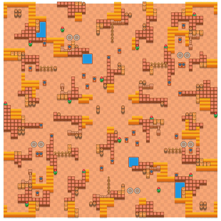 Victor Valley is a Duo Showdown Brawl Stars map. Check out Victor Valley's map picture for Duo Showdown and the best and recommended brawlers in Brawl Stars.