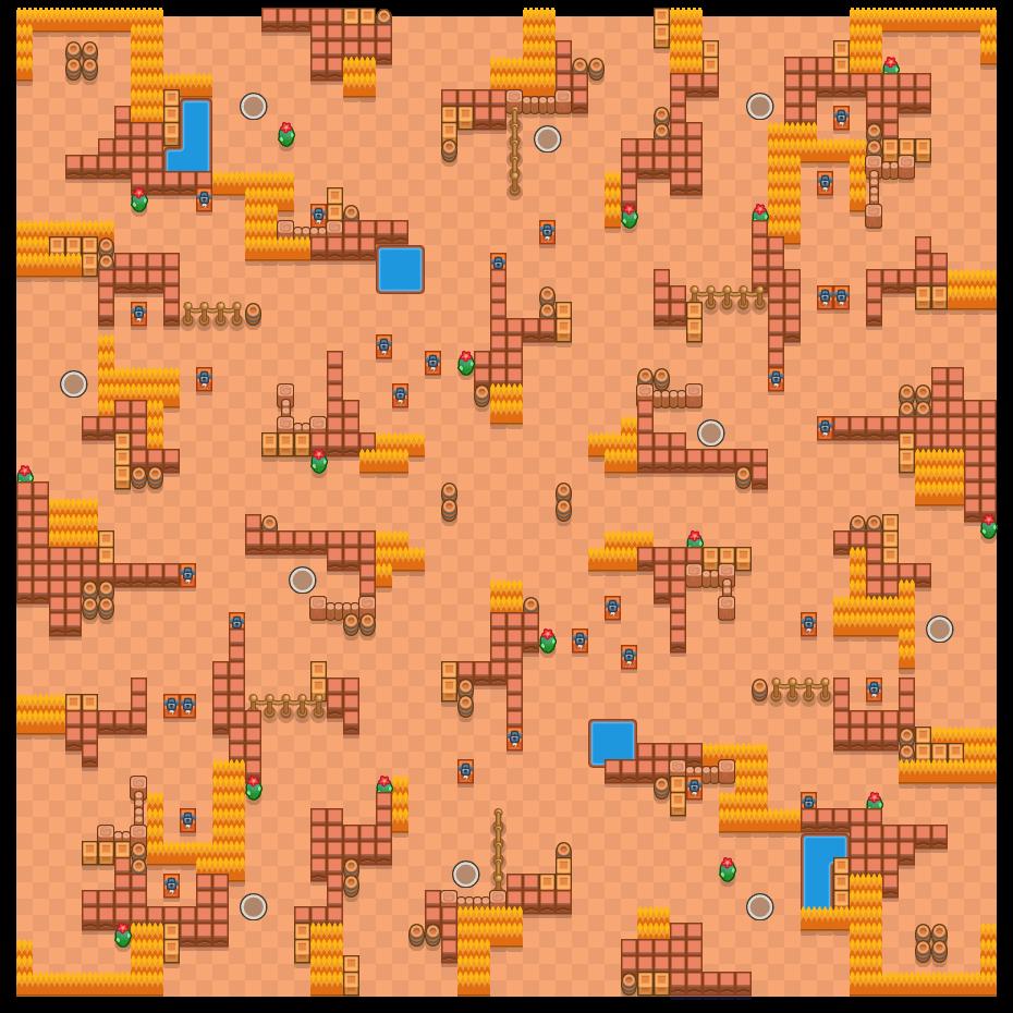 Victorievallei is a Solo-Showdown map in Brawl Stars.