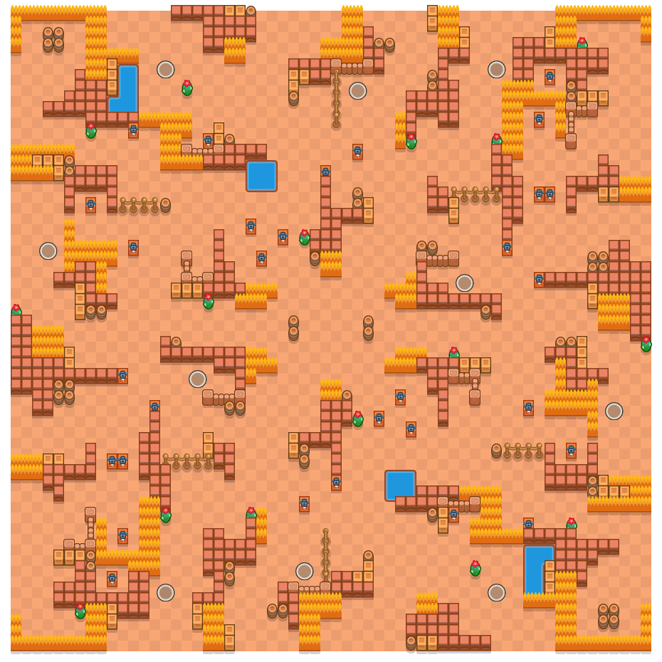 Victor Valley is a Solo Showdown Brawl Stars map. Check out Victor Valley's map picture for Solo Showdown and the best and recommended brawlers in Brawl Stars.