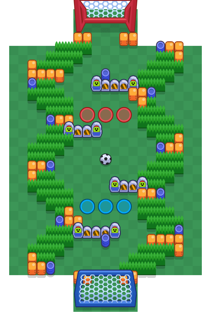 Warped Arena is a Brawl Ball map in Brawl Stars.