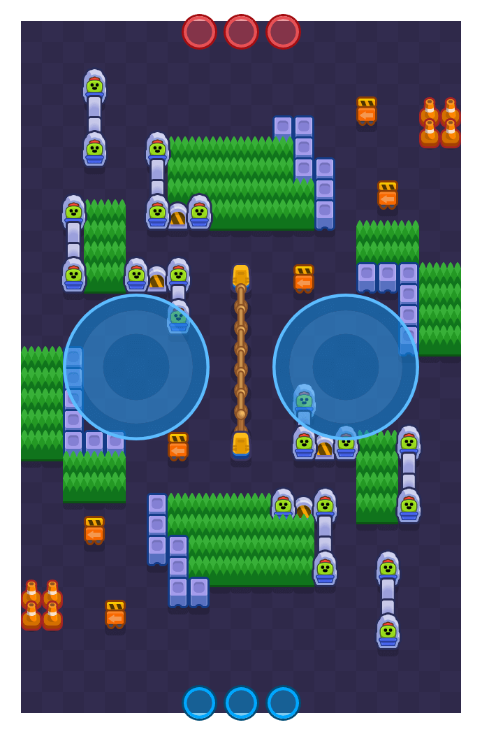 Watch Out is a Hot Zone Brawl Stars map. Check out Watch Out's map picture for Hot Zone and the best and recommended brawlers in Brawl Stars.