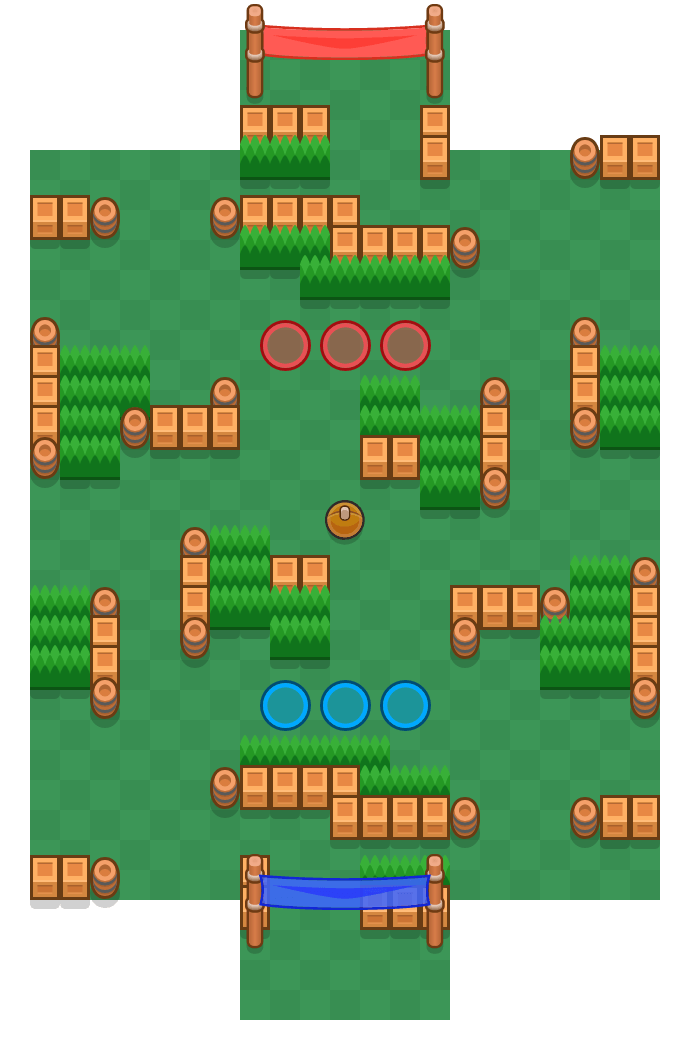 Drible perfeito is a Fute-Brawl map in Brawl Stars.