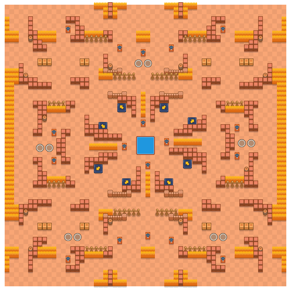 Will of the Wisp is a Duo Showdown Brawl Stars map. Check out Will of the Wisp's map picture for Duo Showdown and the best and recommended brawlers in Brawl Stars.