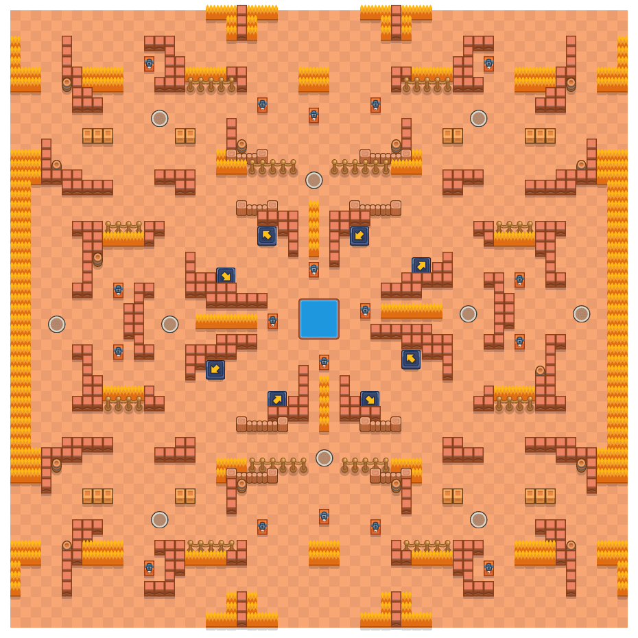 Dwalende lichtjes is a Solo-Showdown Brawl Stars map. Check out Dwalende lichtjes's map picture for Solo-Showdown and the best and recommended brawlers in Brawl Stars.