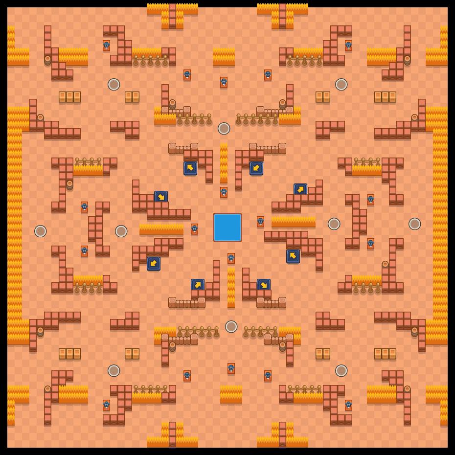 Fuego fatuo is a Supervivencia (solo) map in Brawl Stars.