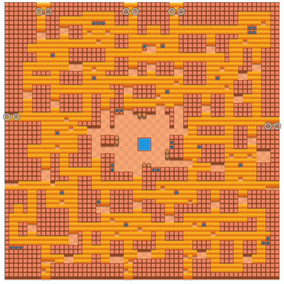 nruhC nrevaC is a Duo Showdown Brawl Stars map. Check out nruhC nrevaC's map picture for Duo Showdown and the best and recommended brawlers in Brawl Stars.