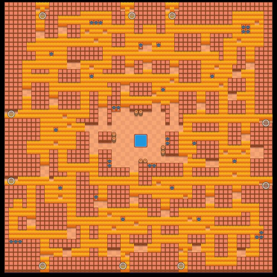 torgreorpO is a Solo-Showdown map in Brawl Stars.